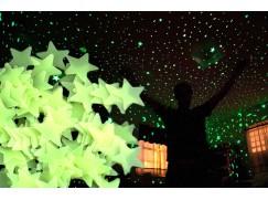 Svítící hvězdičky na zeď – 50 ks