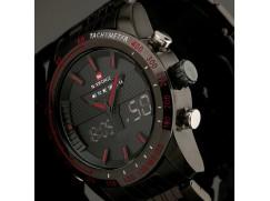 Panske vojenske LED hodinky NAVIFORCE nerez ocel