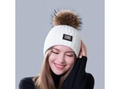 Dámská zimní pletená čepice s chocholkou 15 modelů